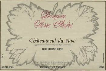 Pierre Andre Chateauneuf-du-Pape 2012