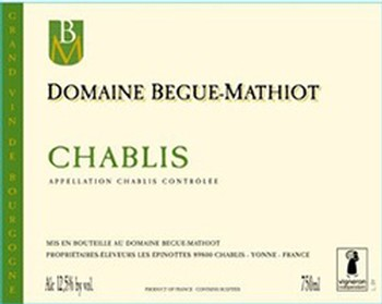 Begue Mathiot Chablis 2014