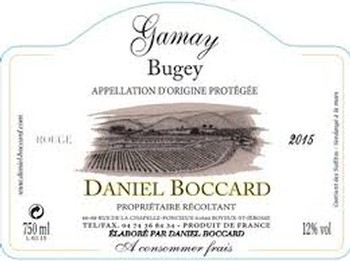 Boccard Bugey Gamay 2019